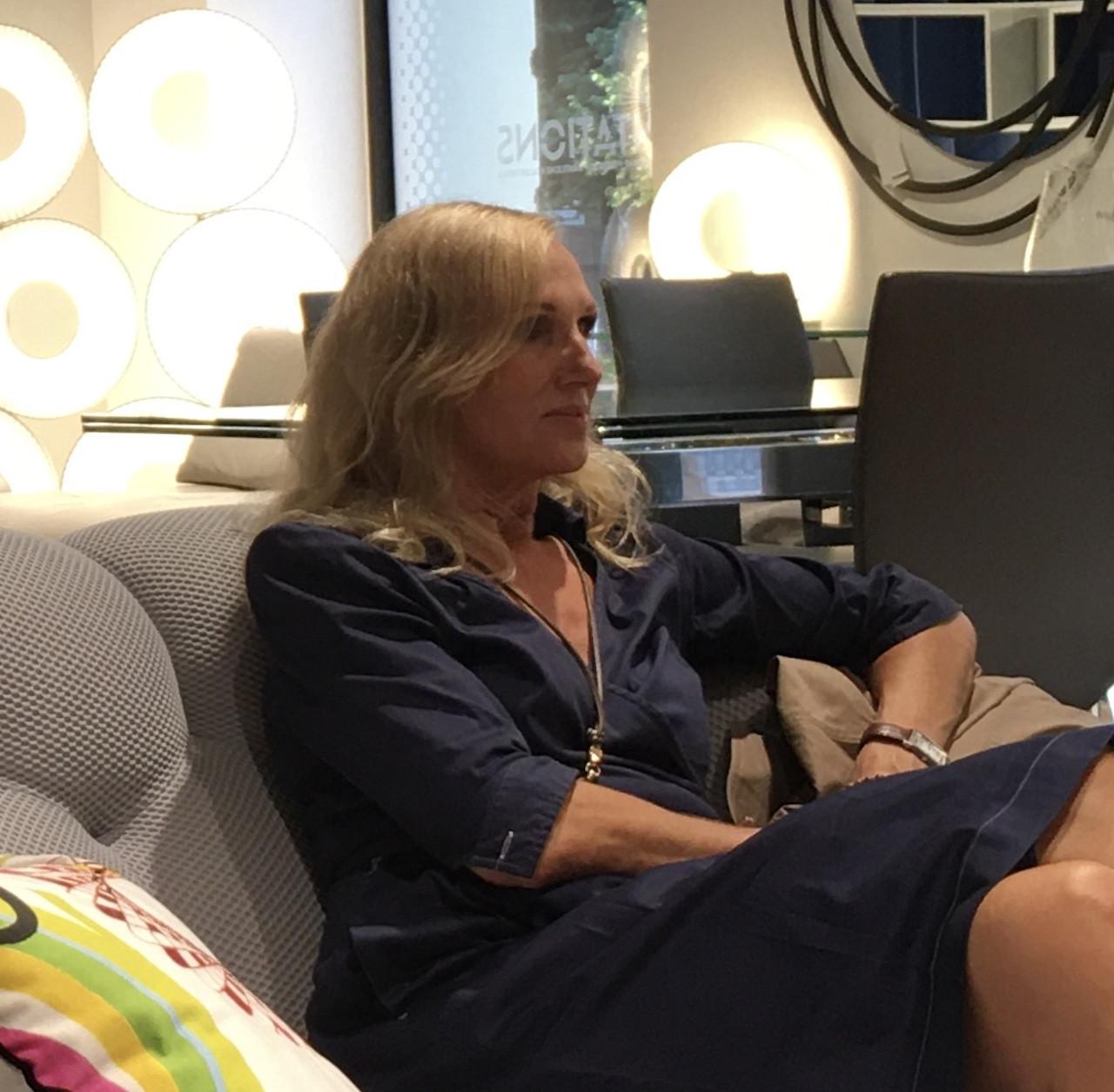 Innenarchitektin Silvia Decke hat schön häufiger Möbel von Roche Bobois eingesetzt