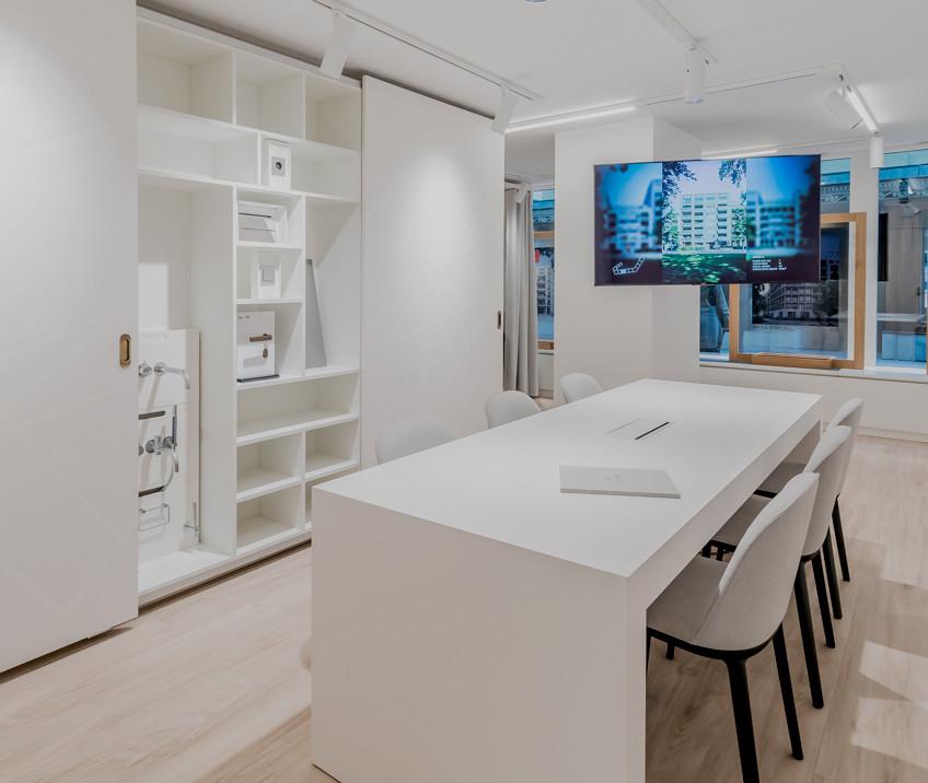 Der Bemusterungsraum für die Stylewelten - © architekturfotografik boris storz