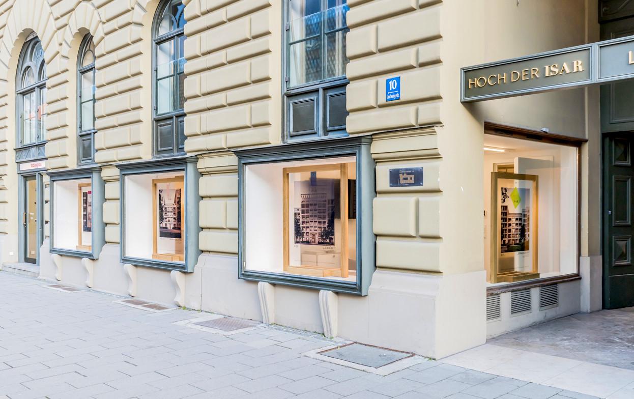 Eingang zur Sales Lounge Hoch der Isar - © architekturfotografik boris storz