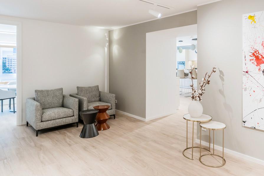 Loungebereich in der Sales Lounge - © architekturfotografik boris storz