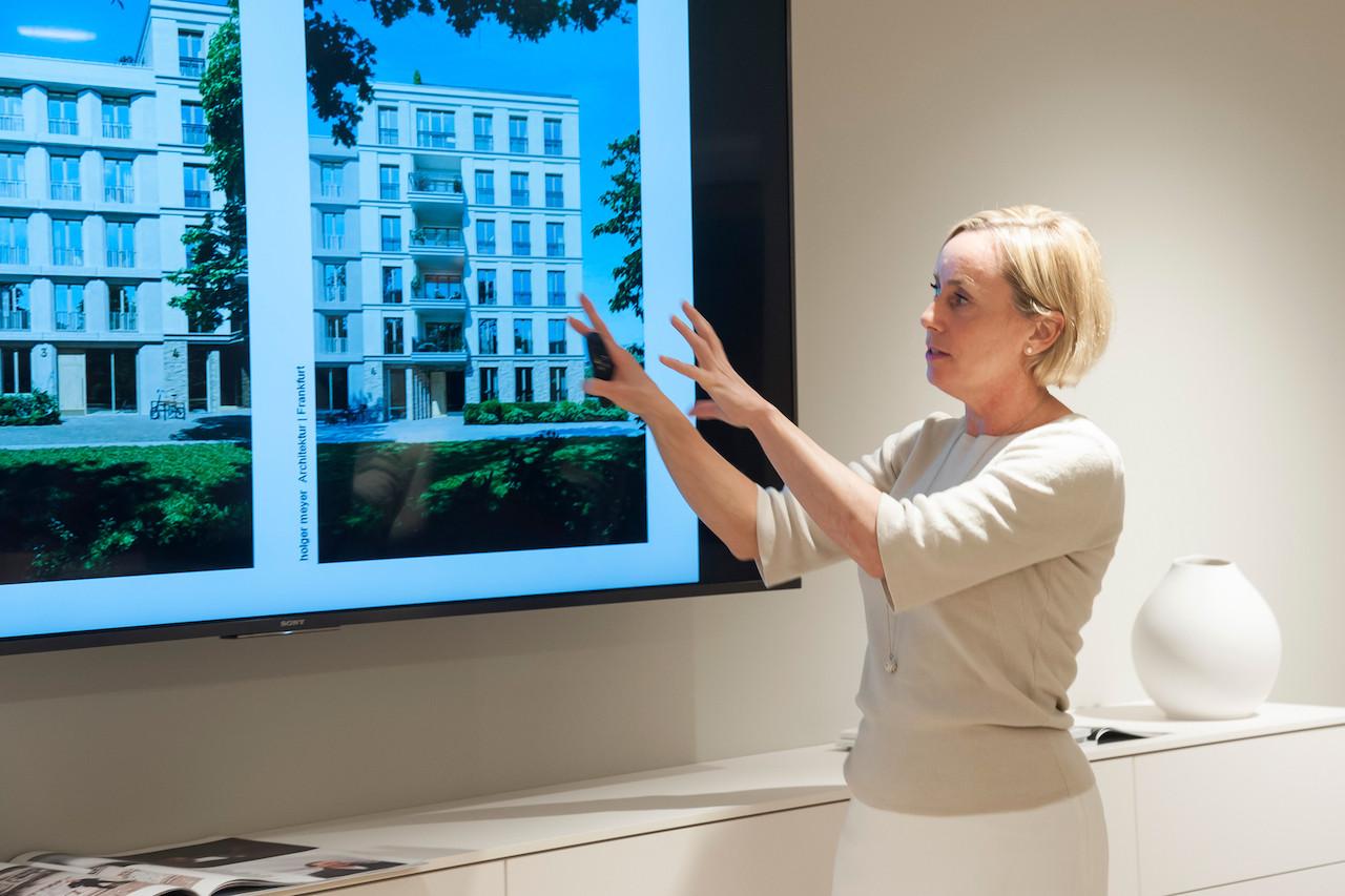 Letzte Station ist die Sales Lounge des ambitionierten Immobilienprojektes
