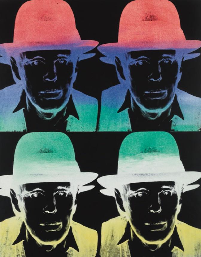 Andy Warhol, Joseph Beuys, State II, 198083, Siebdruck, 101.4 x 81.3cm © Galerie Schwarzer