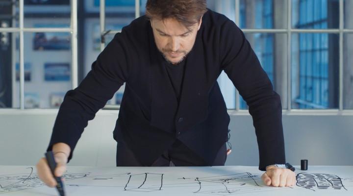 Bjarke Ingels beim ersten Entwurf